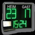 DFY440-4-WECL320-4-G Spielstandanzeige inkl. Uhr, CTDN- und CTUP-Funktion