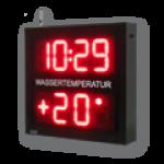 LED-Uhrzeit-, Datum- und Temperaturanzeige WECL140-2-R