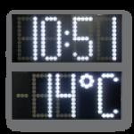 LED-Uhrzeit- und Temperaturanzeige WECL550-4-W-UHR-TEMP