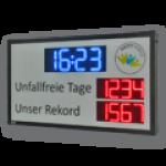LED-Arbeitssicherheitsanzeige mit Datum- und Uhrzeitanzeige DFY100-4-2-R-UFT-REKORD-WECL140-B