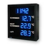 LED-Display DFY60-13-B-UHR-TEMP-ANALOG