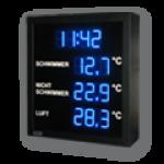 LED-Display DFY60-13-B-UHR-TEMP-ANALOG