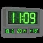 LED-Uhr für den Innen- und Außenbereich, einseitig – WECL140-G-ES