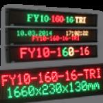 Mehrfarbige & mehrzeiliges LED-Display FY10-160-16-TRI