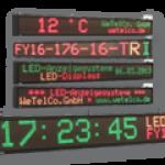 LED-Laufschrift mit Temperaturanzeigen und Uhrzeit – FY16-176-16-TRI