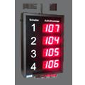 LED-Personenaufrufsystem für 4 Arbeitsplätze mit Funkfernbedienung und akustischem Signal beim Aufruf – DFYI56-3-4-AUFRUF-FUNK