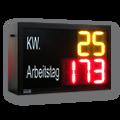 Arbeitstag & Kalenderwoche – LED-Display DFY140-2-Y-3-R-ZS