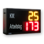 Arbeitstag & Kalenderwoche – LED-Display DFY140-2-Y-3-R-ZS