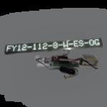 Einzeilige Laufschrift, weiße LED, als Einbaulösung – FY12-112-8-W-ES-OG