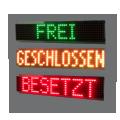 """LED-Display """"FREI/BESETZT/GESCHLOSSEN"""" – FY16-48-8-RG-OG"""