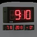 LED-Uhr für den Innen- und Außenbereich, einseitig – WECL100-R-ES