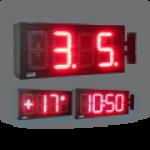 LED-Uhr für den Innen- und Außenbereich, zweiseitig – WECL175-R-ZS mit Ausleger