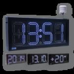 LED-Uhr für den Innen- und Außenbereich, einseitig – WECL225-W-ES