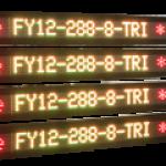 4 identische, dreifarbige LED-Industrieanzeigen – FY12-288-8-TRI