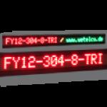 Einzeilige 3-farbige Laufschrift – FY12-304-8-TRI