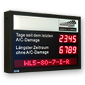 LED-Arbeitssicherheitsdisplay inkl. Informationsanzeige DFYI56-4-2-UFT-REKORD-WL5-80-7-I-R