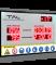 LED-Arbeitssicherheitsanzeige mit Datum- Uhrzeit und Temperaturanzeige DFY140-20-UFT-WECL140-R