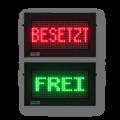 "LED-Festtextdisplay ""FREI/BESETZT"" – FY8-32-16-RG"
