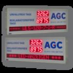 LED-Arbeitssicherheitsanzeige inkl. Informationsanzeige DFYI56-4-2-UFT-RFT-WL5-120-7-I-R