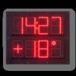 LED-Uhrzeit, Datum- und Temperaturanzeige WECL100-4-2-R-ZS-OG