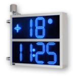 LED-Uhrzeit, Datum- und Temperaturanzeige WECL225-2-B-ZS
