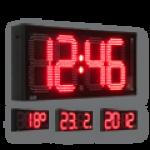 LED-Uhrzeit-, Datum- und Temperaturanzeige DFY280-4-R