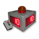Vierseitiger LED-Countdown-DFY60-3-R-CTDN-2T-KI2-KO1-VS