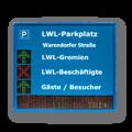 Parkleitanzeige mit LED Laufschrift FY10-3-16-16-ZS-Pfeilkreuz_112-16-TRI