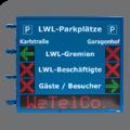 Zweiseitige LED-Parkplatzanzeige FY10-16-16-6-RG-Pfeil-Kreuz und FY10-112-16-TRI-ZS-ETH