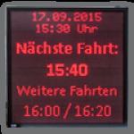 LED Anzeige Abfahrtzeiten für Fährbetriebe – FY10-96-96-R