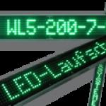 LED-Laufschrift WL5-200-7-SO-G-OG / Typ WL5-SO montagefertig ohne Gehäuse