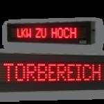 LED-Festtextanzeigen WL5-80-7-SO-R-O & WL5-160-7-SO-R-O / Typ WL5-SO im Gehäuse für den Außenbereich