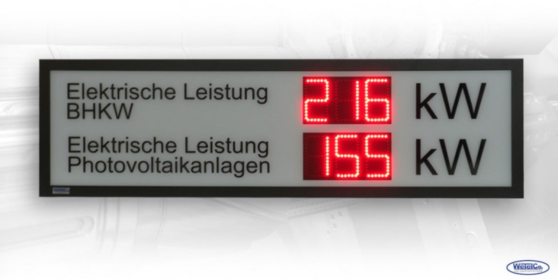 LED-Display 'Elektrische Leistung' DFY100-3-2-R-SI