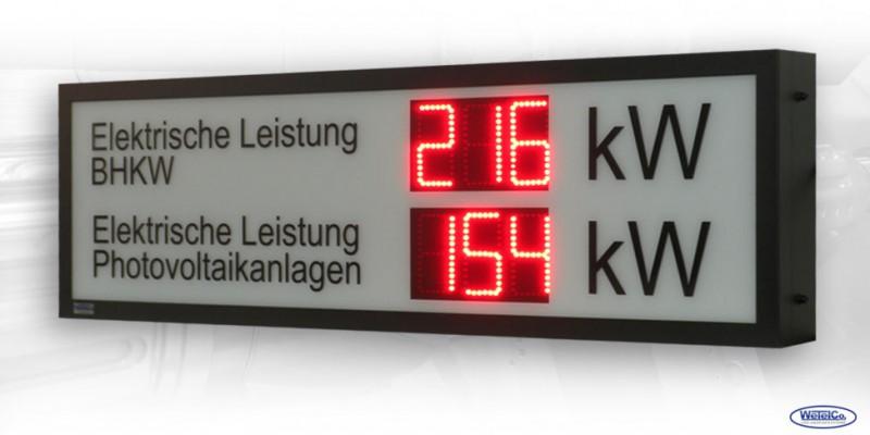 LED-Display 'Elektrische Leistung' DFY100-3-2-R-SI