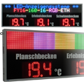 LED-Großanzeige Temperatur & Laufschrift<br>FY16-160-16-RGB-ETH-DFY225-9-R-ETH-TEMP