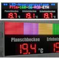 LED-Großanzeige Temperatur & Laufschrift FY16-160-16-RGB-ETH-DFY225-9-R-ETH-TEMP