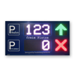 Parkplatz LED-Display FY12S-64-32-RGB7C-ETH