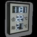 LED-Temperaturanzeige – DFY100-8-W-TEMP-CLK