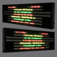 LED-Industrieanzeige FYI3-320-7×8-TRI-RS485 mit Protokollanbindung