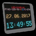 LED-Grafiktafel als Bausatz – FY4S-128-96-RGB7C-ETH-OG