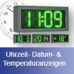 Bild Uhrzeit-, Datum- & Temperaturanzeigen.
