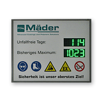"LED-Display ""Arbeitssicherheit"" DFY140-4-2-G-UFT-REK-IR"