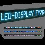 Laufschrift ein- und zweizeilig, FY7S-672-16-RGB7C