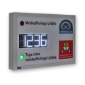 """LED-Display """"DFY100-4-W-UFT-AMPEL"""" für unfallfreie Tage"""